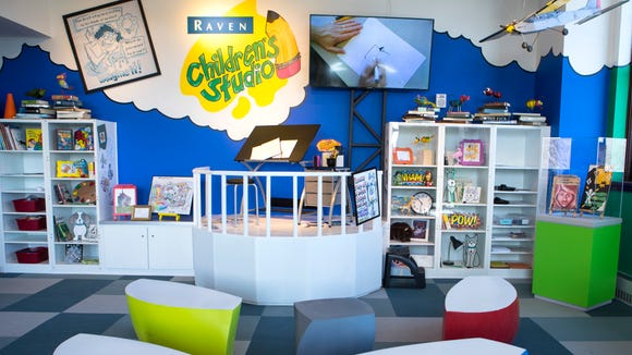 Washington Pavilion's newly renovated Raven Children's Studio is shown on Thursday, April 26, 2018 in Sioux Falls, S.D.