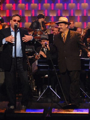 """Southside Johnny (left) and Richie """"Labamba"""" Rosenberg work the stage."""