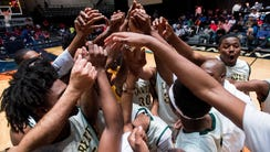Carver celebrates defeating Lanier at the AHSAA Regional