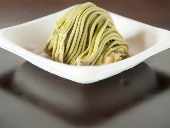 Green tea mont blanc at Oki Maki in Voorhees.  10.05.17