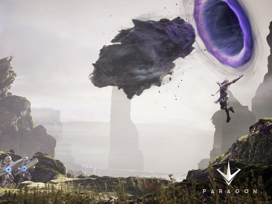 A scene from the action game 'Paragon.'