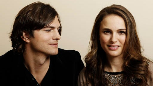 "FILE - In this Jan. 7, 2011, file photo, actor Ashton Kutcher, left, and actress Natalie Portman, from the film ""No Strings Attached"" pose for a portrait in Beverly Hills, Calif. Portman tells Marie Claire magazine in an interview published Jan. 11, 2017, that Kutcher was paid three times as much as her for co-starring in the 2011 film. (AP Photo/Matt Sayles, File)"