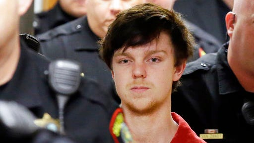 "FILE - In this Feb. 19, 2016, file photo, Ethan Couch is led by sheriff deputies after a juvenile court hearing in Fort Worth, Texas. Lawyers for Couch, who used an ""affluenza"" defense in a 2013 fatal drunken-driving wreck, filed a motion Friday, March, 17, 2017, with the Texas Supreme Court in an effort to secure his release from jail. They argue that a judge had no authority to sentence Couch to nearly two years in jail after his case was moved from juvenile to adult court."
