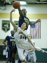 Jabez Thomas (22) was voted one of Section V's top 15 players last season by area coaches, after University Preparatory Charter School for Young Men's sectional final appearance.