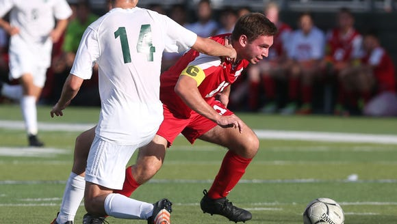 Somers defeated Brewster 1-0 in a boys soccer game