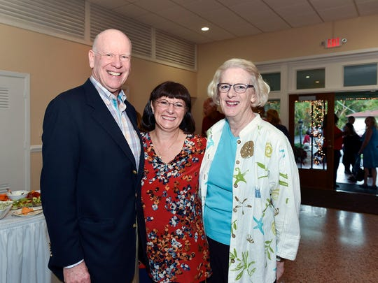 Honorary chairs of the 2017 Holiday Home Tour were Knight and Ann Kiplinger, right, and Debbie Duvall, center.