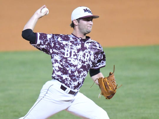 Missouri State pitcher Logan Wiley (35) pitches against