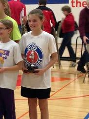 Lincoln Elementary School sixth grader Shannon Peskie