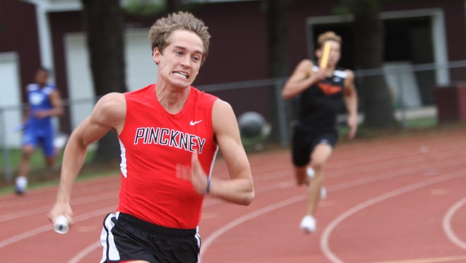 Pinckney's Nick Cain had the fastest 100- and 200-meter times in Livingston County this spring.