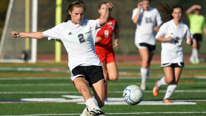 Senior Julie McGovern is one of three captains for River Dell.