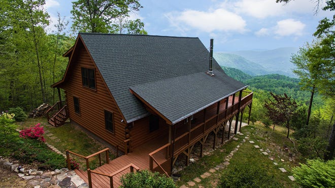 A vacation rental cabin offered by Greybeard Realty and Rentals in the Asheville area. While other parts of the tourism industry have suffered with the COVID-19 crisis, vacation rentals have seen an increase in business.