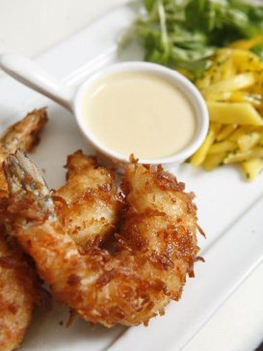 jumbo coconut shrimp at restaurant x in congers