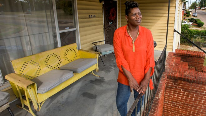 Tiffany London at her home in Montgomery, Ala. on Monday October 10, 2016. London lived at the Friendship Mission women's shelter for nearly a year and now owns her own home.