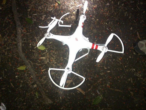 Secret Service photo of the drone that landed near