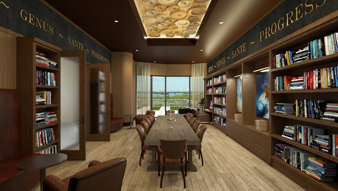 Omega residents will enjoy 18,000 square feet of interior amenities, including a library and card room, a billiards and game room, a theater, fitness center, and a social room.