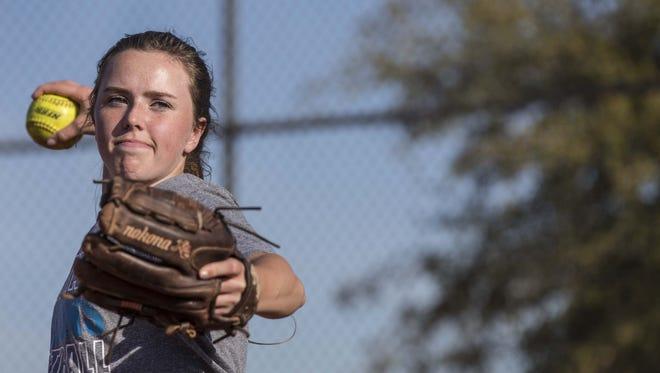 Veritas Prep softball pitcher Lainey Stephenson surpassed 1,000 career strikeouts on Wednesday.