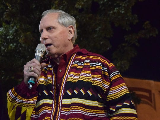 Seminole legend T.K. Wetherell speaks at SodTalk before the Florida versus Florida State game on Nov. 26.