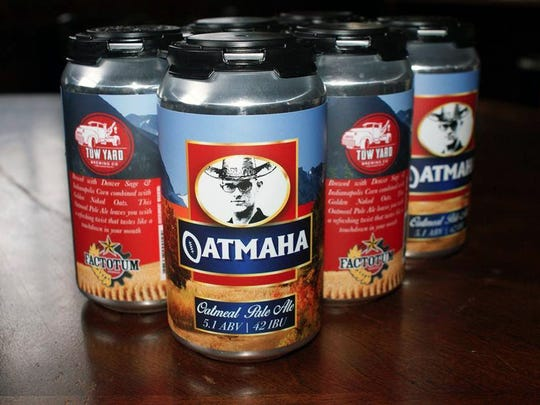 Oatmaha, an oatmeal pale ale Tow Yard brewed in collaboration with Denver brewery Factotum Brewing.