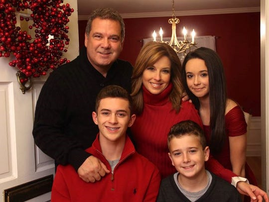 Mike Spano with wife, Mary Calvi, children Michael,