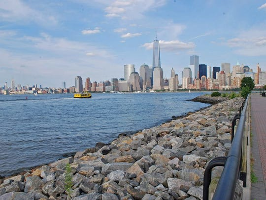An image I shot of downtown Manhattan from Jersey City, New Jersey near my high school.