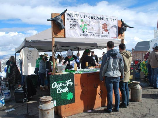 The Nut Up or Shut Up crew from Bucket of Blodo Saloon won best taste (amateur baller) and people's choice at the 27th annual Rocky Mountain Oyster Fry March 17 in Virginia City.