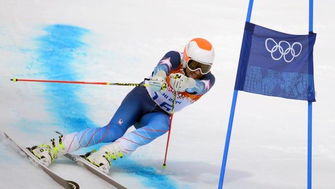 Bode Miller skis the giant slalom on Wednesday.