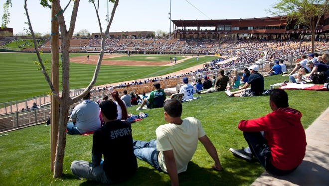 The 141-acre Camelback Ranch Glendale in Phoenix is the largest complex in the Cactus League.