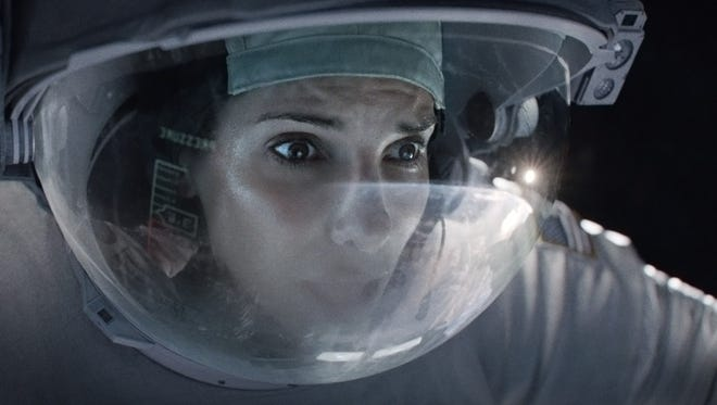 """A fun fact about """"Gravity,"""" which is up for an Oscar in visual effects: Sandra Bullock's space visor in the movie is a wholly digital creation."""
