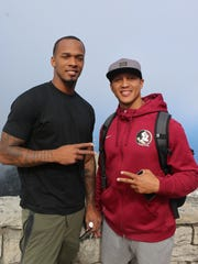 Former Florida State standouts P.J. Williams and Tony Carter at Table Mountain in Cape Town, South Africa.
