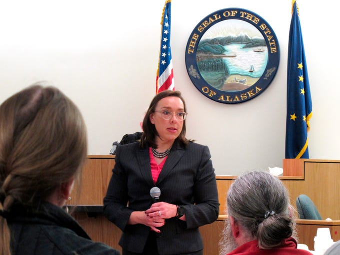 Alaska Assistant District Attorney Amy Paige gives