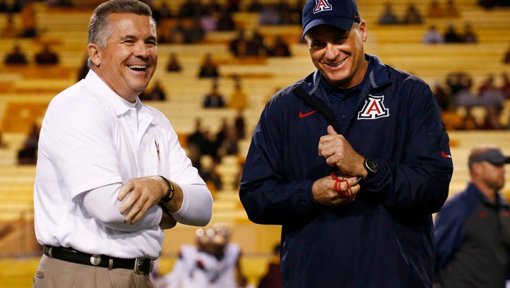 ASU's Todd Graham and Arizona's Rich Rodriguez.