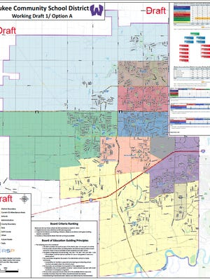 Proposed elementary school boundaries for Waukee.
