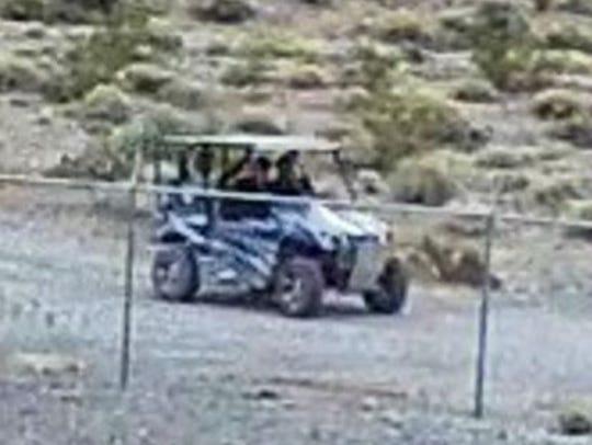 One suspect's car was seen on surveillance footage