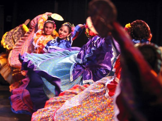 Members of Alcorta's Compania de Danza Folklorica perform a dance during the 17th Springtime Spectacular in 2010 at the Selena Auditorium. The event, which features the dancers from the studio, is sponsored by H-E-B and the dance studio.