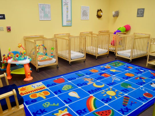 Nap areas for infants are seen at For My Child Learning