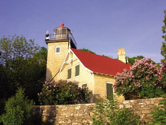 Tours of the Eagle Bluff Lighthouse in Peninsula State Park are offered daily in the summer. During the Door County Lighthouse Festival a also special trolley tour will also visit the lighthouse. ORG XMIT: MJS1405281624453061