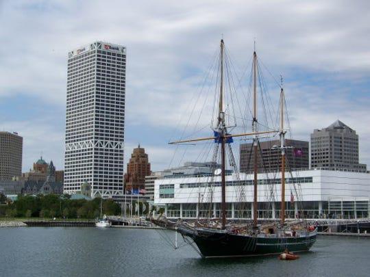 The Denis Sullivan sets sail for Lake Michigan.