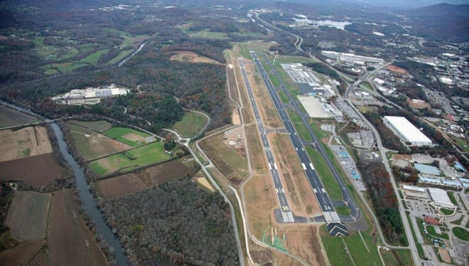 Asheville Regional Airport is shown in this aerial view from November 2015.