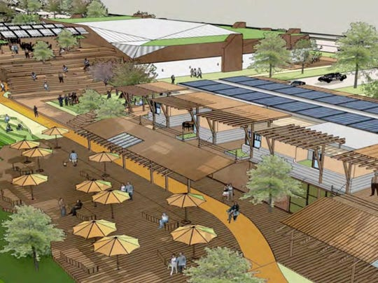 This rendering shows part of the Sugar Beet District development proposed for north Fort Collins.
