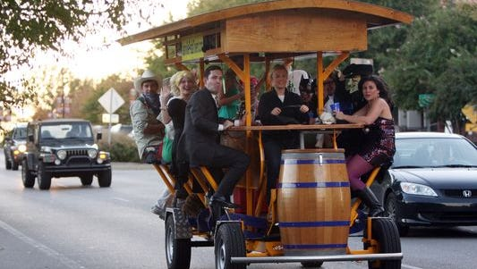 A Green Bay City Council committee is working on a proposal calling for a downtown pedal pub. This is the Nashville Pedal Tavern in Nashville, Tenn.