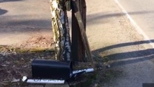 A Salem woman was hit by a car while checking her mail.