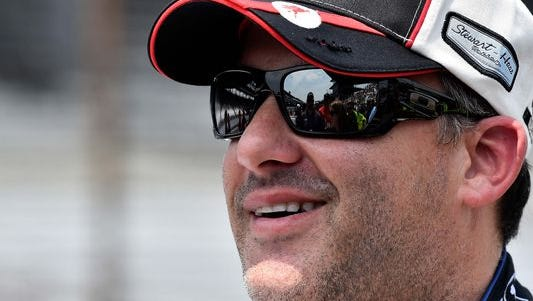 Tony Stewart stars in the Columbus, Ind. Police Department's viral Lip Sync Challenge video.