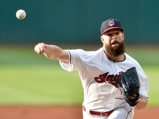Jul 12, 2018; Cleveland, OH, USA; Cleveland Indians