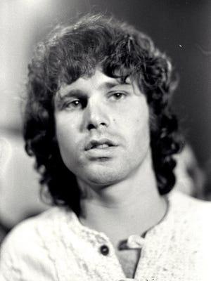 Jim Morrison of The Doors poses in 1968.