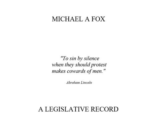 One of the documents Mike Fox emailed an Enquirer reporter