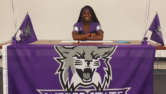 Dixie track and field senior Starlee Woodbury signs with Weber State Thursday, November 17, 2016.