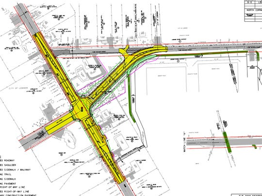 Proposed changes to Wilhelm and York Street in Lebanon,