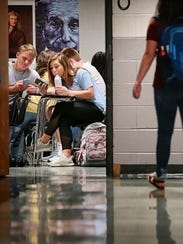 Students at Houston High School in Germantown, Tenn.,