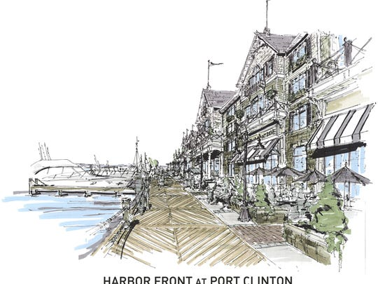 The $60 million mutli-use project with lodging, retail shops and a convention center, boardwalk and marina called the Harborfront at Port Clinton was proposed by Washington Properties' Mike Rose in 2013.