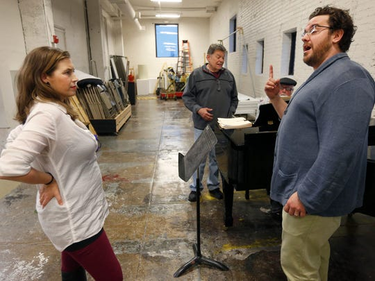 The Springfield Regional Arts Council Creamery building hosts eight tenant arts groups under its room, including Springfield Regional Opera. In this 2016 photo, Springfield Regional Opera artistic director and international opera singer Michael Spyres sings with his wife, opera singer Tara Stafford-Sypres, while they rehearsed with pianist John Raczka and band leader Les Brown.